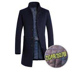 men wool stand collar single ted long coat peacoat trench overcoat hot size