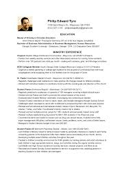 Ministry Resume Of Philip Tyre Awesome Ministry Resume