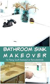 amusing spray paint bathroom sink can you cabinet stone a vanity b