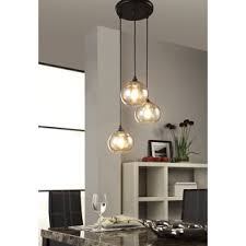 cluster pendant lighting. Uptown 3-light Amber Globe Cluster Pendant Lighting