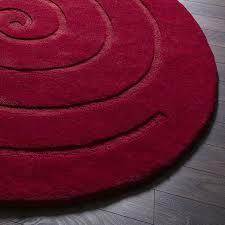 spiral rug red
