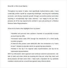 medical sales representative cover letter medical sales representative cover letter