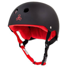 Triple Eight Brainsaver Rubber Helmet With Sweatsaver Liner Red Liner