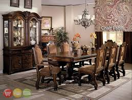 Dining Room Set With China Cabinet Neo Renaissance Formal Dining Room Set Table 6 Side 2 Arm Chairs