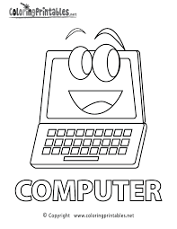 Computer Coloring Page Printable Colouring Computer Lab Lessons