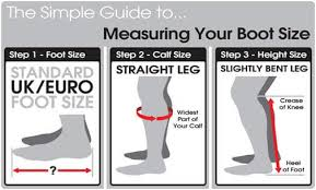 Deniro Boot Size Chart Tips And Fitting Advice