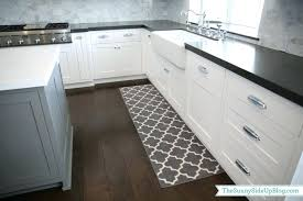 modern kitchen rugs modern rectangle shaped long kitchen rugs in gray tone next to kitchen sink