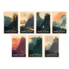 olly moss brings iconic design vibrant color and clic imagery for these latest harry potter cover designs missioned by pottermore and exclusive to
