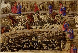 Botticelli Chart Of Hell High Resolution Botticellis 92 Surviving Illustrations Of Dantes Divine