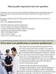 Marana Police Department Interview Questions Job Interview Interview