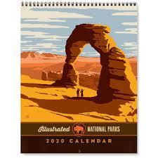 National Parks Posters Anderson Design Group 2020 National Parks Wall Calendar Original Artwork By