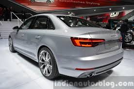 audi a4 2016 interior. indiabound 2016 audi a4 rear three quarter at the iaa 2015 interior