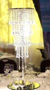 chandeliers table top chandelier centerpiece wedding tall 1 tiers of iridescent crystal centerpieces chandeliers for