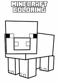 Tuyển tập các bức tranh tô màu Minecraft đẹp nhất dành cho bé trai yêu  thích | Minecraft pig, Minecraft printables, Minecraft coloring pages