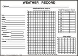 Black Colour Chart Paper Weather Record Chart