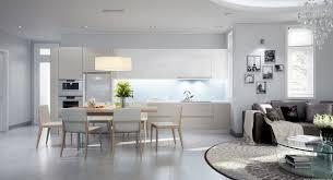 Living Room DesignContemporary Open Plan Kitchen Living Room