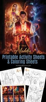Just print them out for your next disney party! Disney S Aladdin Printable Activity Sheets Coloring Pages Mom Endeavors