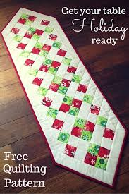 Table Runner Patterns Simple Easy Christmas Table Runner Table Runners Pinterest Easy