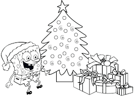 Coloring Pages Spongebob Spongebob Christmas Coloring Pages Online