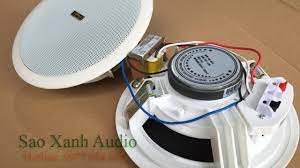 Sơ đồ đấu loa âm trần | Cách đấu loa âm trần chuẩn kỹ thuật - Sao xanh audio