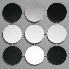 mirror wall decor circle panel:  circle art deco wall mirror