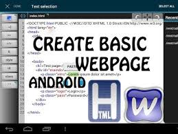 create html website using android device webmaster lite  create html website using android device webmaster lite