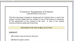 Assignment Of Contract Consent To Assignment Of Contract YouTube 22