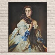 famous oil painting reion elegant women portrait canvas painting for living room home decor picture unframed