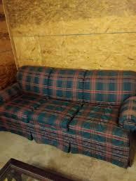 red and green plaid sleeper sofa
