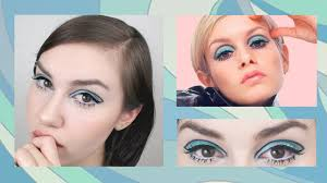 aqua blue 60 s makeup tutorial