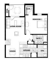 bedroom floor plan. One Bedroom Floorplan (856 Square Feet) Floor Plan O