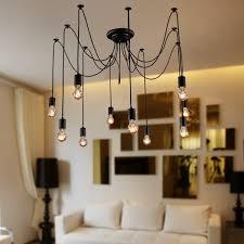 furniture graceful edison bulb chandelier
