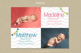 twin birth announcements photo cards cutest deals for birth announcement template