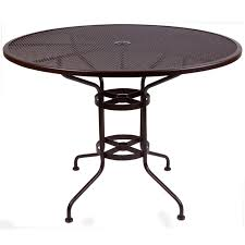 ow lee round micro mesh bar table w umbrella hole 48 inch