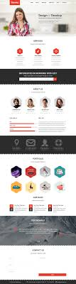 one page website template psd website templates just 10 designscanyon