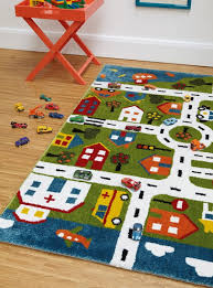 children s rugs play town map