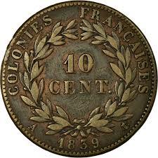 Kolonien Louis 1839 10 Münze Centimes 10 Philippe