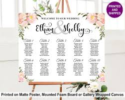 Floral Seating Chart In 2019 Wedding Seating Chart