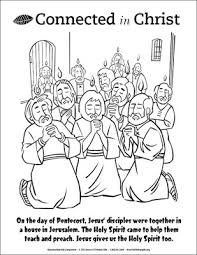Small Picture Connected in Christ Coloring Page Pentecost Downloadable