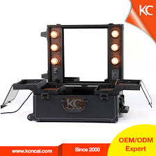 pvc lighted makeup case with mirror beauty case train cosmetic case with lightirror pvc lighted makeup