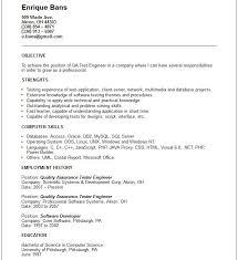 Test Engineer Resume Objective Qa Tester Resume Expert Sample Resume Qa Tester Xz A34112 Resume