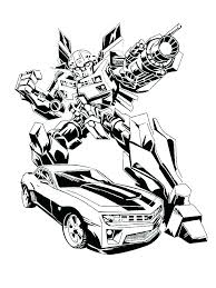 Coloring Pages Bumblebee Transformer Coloring Pages Printable