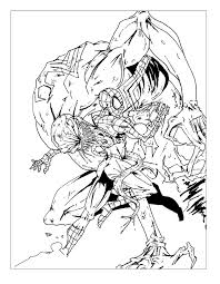Small Picture Venom Coloring Pages Spiderman Learn Colors For Kids And