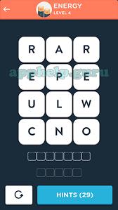 Wordbrain Themes Word Expert Energy Level 4 Answer Game