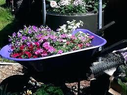 wagon decorative garden decor planter cart wheels dec