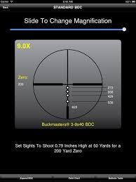 Bdc Reticle Ballistics Chart Nikon Spoton On The App Store