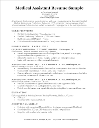 Certified Medical Assistant Resume Samples Free Medical Assistant Resume Sample Templates at 49