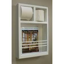 Rubbermaid Magazine Holder Wall Mounted Magazine Rack Bathroom Double Toilet Paper Holder 64
