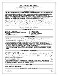 Power Engineer Resume Template Premium Resume Samples Example Amazing Operations Engineer Resume