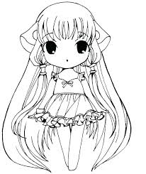 Anime Colouring Pages Girl Anime Printable Coloring Pages Anime